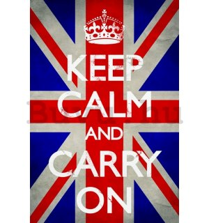 Plakát - Keep Calm (Union Jack)