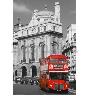 Plakát - London red Bus (2)